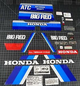 1984 84' honda Big Red ATC 26p FULL Vintage autocollant Sticker Decal 200e 200es