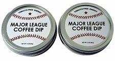 2 Pack Major League Baseball Coffee Dip Chewing Tobacco FREE Energy mlb Bat Ball