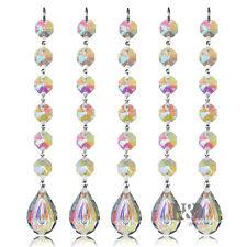 10 pcs 38MM Crystal Prisms Suncatcher Rainbow Maker Chandelier Part Home Decor