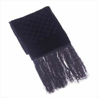 Gucci Scarf G logos Black Woman unisex Authentic Used T4871