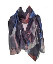 Miss Shorthair Grey Gray Blue Black Blue Geometric Modern Pattern Scarf LilyRosa