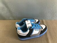 BNWT Mens Teenage Size 8 Rivers Doghouse Cool Blue/White Lace Up Jogger Shoes