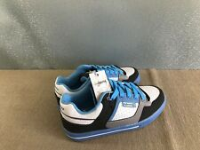 BNWT Mens Teenage Size 11 Rivers Doghouse Cool Blue/White Lace Up Jogger Shoes