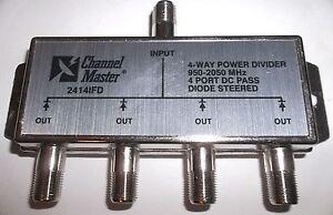 Channel Master Satellite High Performance 2414IFD 4-Way Power Divider Splitter