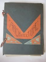 vtg Architecture History SCRAPBOOK photo art deco industrial design book antique