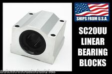 SC20UU Linear Bearings for 20mm Shafts, LM20UU with Pillow Blocks for CNC Router