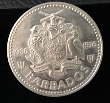 1976 Barbados $5 Proof Silver Coin Uncirculated