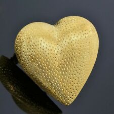 Vintage Tiffany & Co. 18K Yellow Gold Strawberry Heart Pin/Brooch