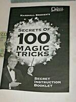 Marshall Brodien 2 Books Secrets of 100 Magic Tricks + 25 Trick Set Instruction