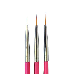 Winstonia Nail Art Brush Fine Thin Precise Line Detailer Brush Set BERRY WINE