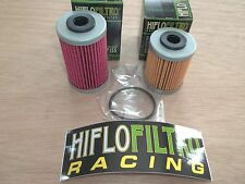 Polaris 450 525 Outlaw HiFloFiltro 1st 2nd Oil Filter Set Short + Long Filters