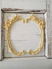 ARCHITECTURAL ROSE ONLAYS (2) - FURNITURE APPLIQUES-WOOD & RESIN-FLEXIBLE