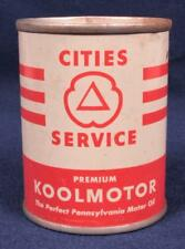 Cities Service Premium Koolmotor Miniature Oil Can Advertising Promo Coin Bank