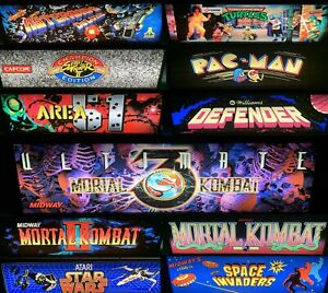 Arcade1up Light Up Enclosed Marquee! Premium Artwork with High Quality LED's!