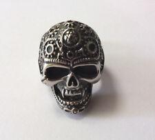 Mens Stainless Steel Decorative Skull Ring