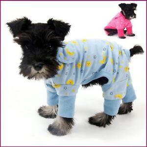 NEW Blue Dog Pet Pajamas with Yellow Stars & Moon Print   XS/S S/M M/L