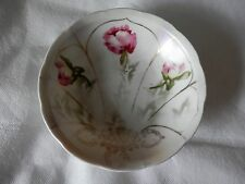 VICTORIA AUSTRIA Pink Paeonia Stem Decorated Bowl COLLECTABLE