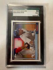 2017 Topps Archives Derek Jeter Yankees SGC 96