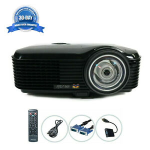 Short-Throw ViewSonic PJD7383 DLP Projector 3000 ANSI HDMI-adapter w/Remote
