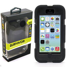 Griffin Survivor iPhone 5c Military Duty Tough Case Clip Cover - Black