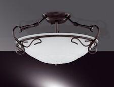 Plafonnier Style Campagne Luminaire de salon Lustre Lampe suspension Blanc 4113