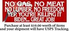 "Anti Joe Biden Bumper Sticker You're Killing it Joe No Freedom 8.6"" x 3"" Decal"