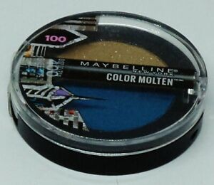 1 Maybelline Color MOLTEN Eye Shadow Duo SWEEPING BLUE #400 Sealed