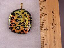 Leopard Spots Animal Print Glass Pendant GA02 Fred Flintstone Look! Awesome!