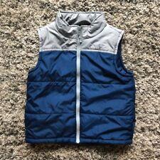 GYMBOREE Boys Puffer Vest Blue Gray Size S 5-6