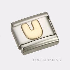 "Original Nomination Classic Gold ""U"" Charm"