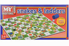 SNAKES & LADDERS - TY57 FUN TRADITIONAL FAMILY CLASSIC FUN KIDS BOARD GAME  KIDS