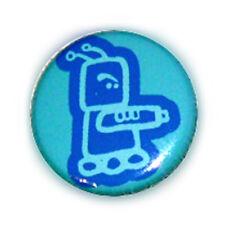 Badge ROBOT LASER Rigolo kawaii freaK NeRd aLien GeeK vintage pins button Ø25mm