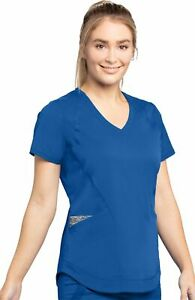 "Grey's Anatomy Impact #087 V-Neck Detailed Scrub Top in ""Royal"" Size 2XL"