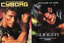 Jean Claude Van Damme CYBORG / SLINGER Blu Ray & DVD Mediabook, 2 Disc, 3 Discs