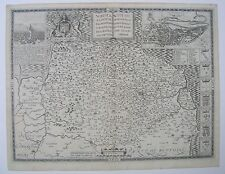 Norfolk: antique map by John Speed, 1616 (Latin edition)
