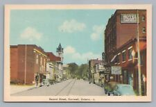 2nd Street CORNWALL Ontario—Rare Antique PC Signs Cars ca. 1930S