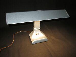 "VNTG Desk Lamp ""Art Specialty Co"" 1 florescent hammered aluminum finish EUC"