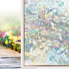 "Window Film Stained Glass Rainbow Window Static Clings 17.5""x78.7"" 1pc New US"