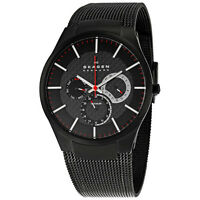 Skagen Men's 809XLTBB Multi-Function Black Titanium Mesh Bracelet Watch