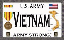 U.S.Army - Vietnam - Magnetic Car Sign - 6in X 3.75in