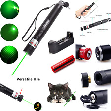 Green Light Pointer Adjustable Focus Battery Operated Safety Lock Design