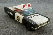VINTAGE 1960s TIN LITHO FRICTION TOY FORD POLICE CAR