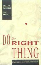 Do the Right Thing: Studies in Limited Rationality (Artificial Intelligence)