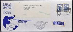 PORTUGAL to ENGLAND 1936 Castle on Crilly Airways First Flight FFC Cover LISBOA>