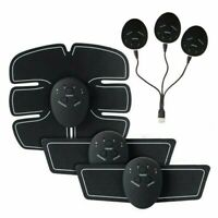4 In 1 Rechargeable Smart EMS Fitness Belt Abs Muscle Toning Trainer Stimulator