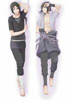 Anime Naruto Itachi Sasuke Uchiha Hugging Body Dakimakura Pillow Case Cover 41''