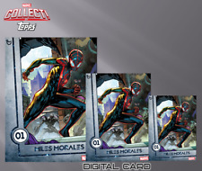 2019 12 DAYS OF TOPPS D1 3x SILVER MILES MORALES Topps Marvel Collect Digital