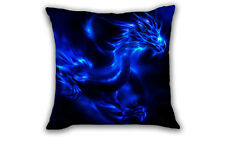 Blue Dragon Pillow Case Waist Back Throw Cushion Cover Home Bed Sofa Car Decor