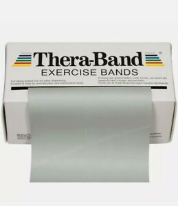 SILVER TheraBand  18FT/6 YARDS Resistance Band Super Heavy  PHYSICAL THERAPY