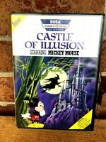 Castle of Illusion Starring Mickey Mouse (Sega Master, 1990) With Manual